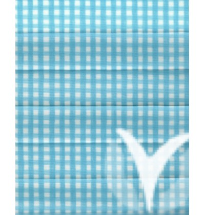 Checked Pearl light blue 411-2841